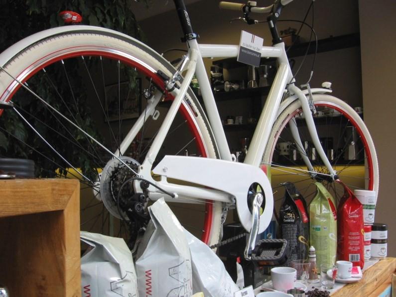 Beans Auslage BiancaNera italienisches Fahrrad