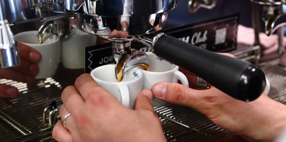 Espressoverkostung bei Caffe Diemme