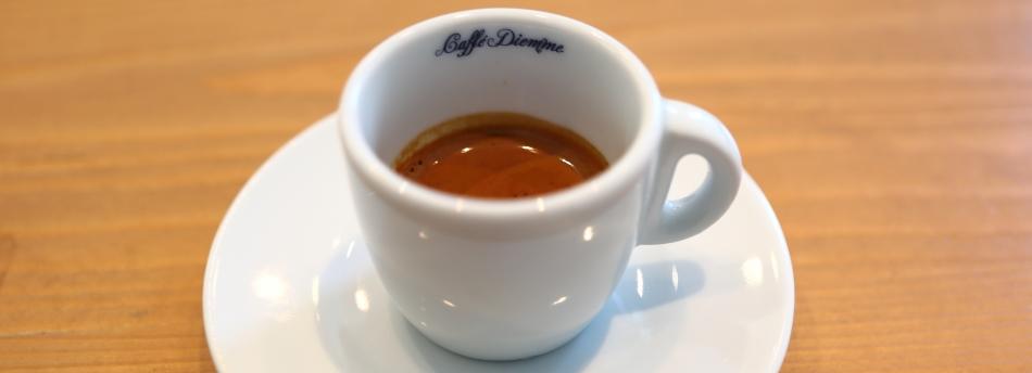 Erster Espresso bei Caffè Diemme
