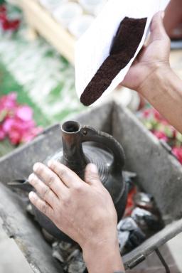 Die Jebena Äthiopische Kaffeekanne