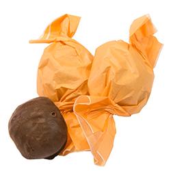 Amaretti mit Schokolade überzogen