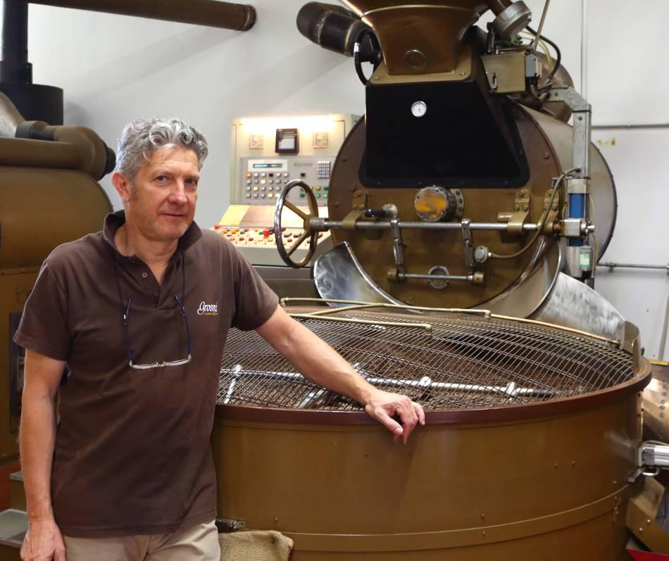 Kaffeeröstung bei Caffè Grosmi