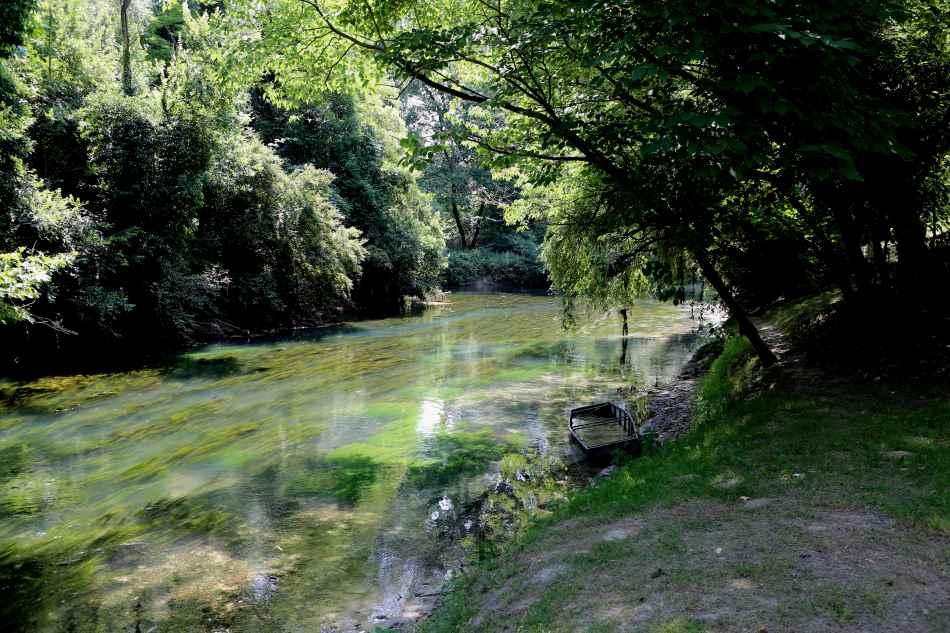 Ein romantischer Park in Sacile