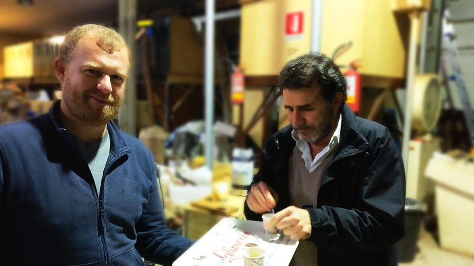 Carlo Grenci (rechts) und sein Cousin