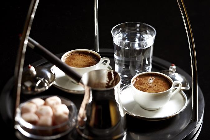 Türkischer Kaffee Serviert Beans Wien