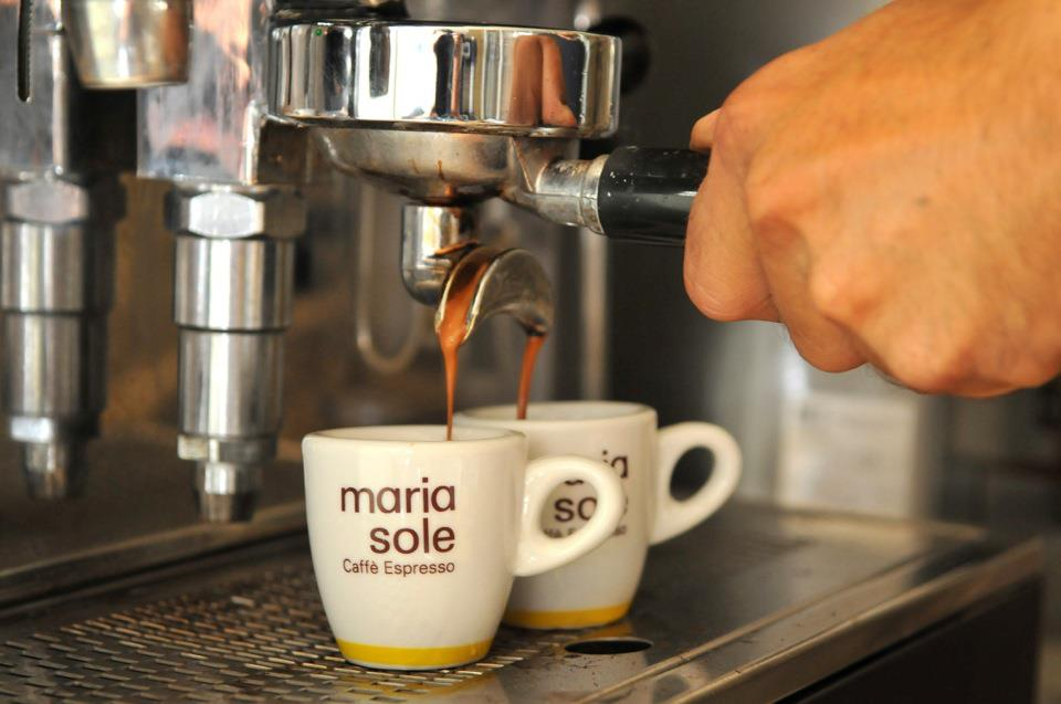 Maria Sole Kaffee Siebträger Crema