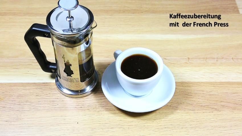 Kaffeezubereitung mit French Press - Anleitung