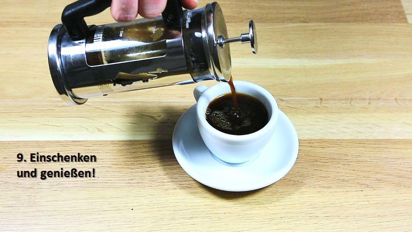Kaffeezubereitung mit French Press - Anleitung - Geniessen