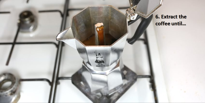 Brewing Guide Moka Pot - Coffee extraction