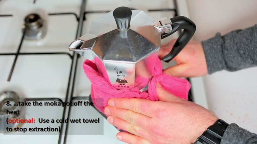 Brewing Guide Moka Pot - Remove from Heat