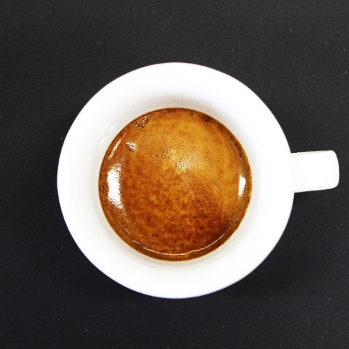 Perfect espresso with tiger crema