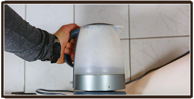 Espressokocher Anleitung - Wasser vorwärmen