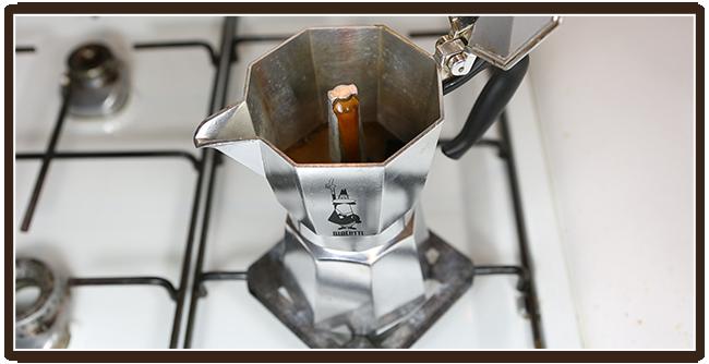 Espressokocher Anleitung - Kaffeeextraktion