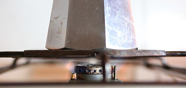 Espressokocher Anleitung - Auf kleiner Flamme erhitzen