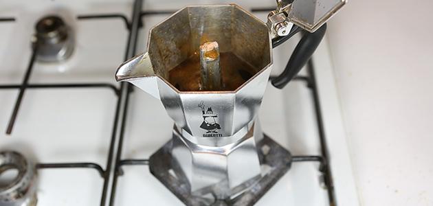 Espressokocher Anleitung - Ende der Kaffeeextraktion