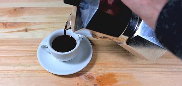 Kaffeezubereitung mit Espressokocher