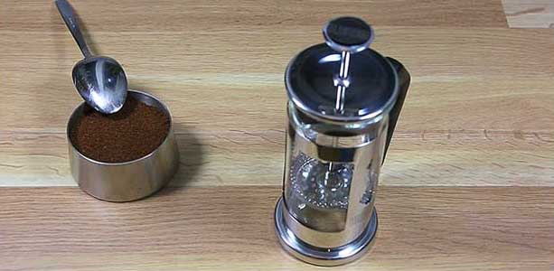 Brewing guide - French Press - ground coffee