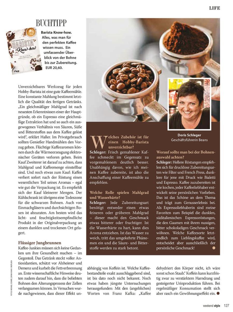 Beans Kaffeespezialitäten Genuss Guide 2017