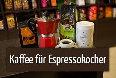 Kaffee für Espressokocher